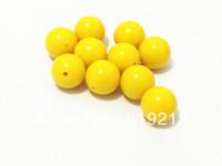 Free Shipping 20MM 100pcs/lot Yellow Acrylic Beads,Acrylic Chunky Gumball Beads