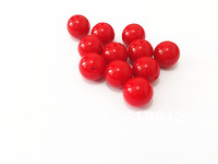 20MM 100pcs/lot Red Acrylic Beads,Chunky Necklace Beads,Acrylic Solid Beads
