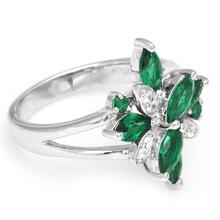 Wholesale Fashion Fine Jewelry Women 2 5ct Emerald Ring 925 Sterling Silver Cross Nano Russian Gem