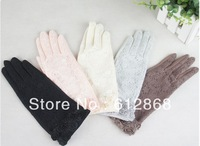 2013 Hot selling women's lace Summer short design cotton anti-skidding Sun gloves      GX-SZ113