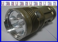 Battery Flashlight  5000 Lumens SKY RAY KING Waterproof 3X CREE XM-L T6 LED Flashlight Torch Free Shipping