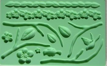 Free shipping  Fondant tool flower shape baking mold silicone embossing die sugar Arts flower