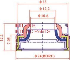 lip seal for Mitsubishi MSC90C,MSC105C OEM TYPE New panasonic R134a,comperssor(China (Mainland))