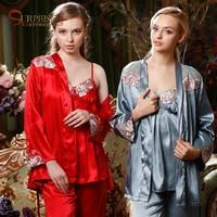 High Quality 2014 New pajamas for women seungpar pajama faux silk pijama for women lounge womens home clothes women's pajamas