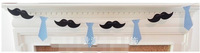 free shipping Tie baby birthday guidon flag banner  mustache  birthday garland decoration