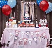 free shipping Wedding birthday supplies banner decoration happy birthday british style p5