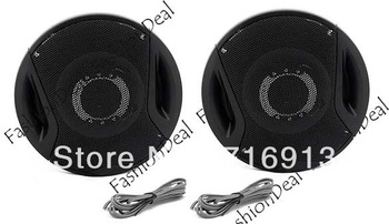 "2013 New 300 Watts High quality 5"" 2-way Two Coaxial Car Stereo Audio Speakers Speaker Black Wholesale TK0692"