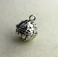Wholesale Hot fashion Super price !  Extra small Silver earth  charm! Free Shipping min order 15 u.s.d.,