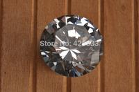 8pcs 30mm K9 Flashing Crystal  Furniture Chrome Clear Diamond Handles Knobs Drawer Pulls