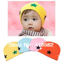 NXM002-10pcs/lot free shipping baby hat  5 stars pattern Cotton knitting wool Beanie Infant Hat  for Toddler Boys  Girls Hats