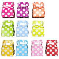 1200pcs  5*7*5cm(L*W*H) 10 colors Mix Mini Polka Dot  Wedding Gift Favor Boxes Free Shipping via DHL/EMS/FEDEX