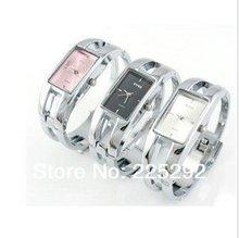 Free shipping 5pcs lot wholesale fee Massive black stainless steel luxury jewelry bangle fashion women WristWatch