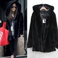 Quality mink hair with a hood outerwear fur coat overcoat long-sleeve coat medium-long fur overcoat outerwear