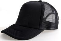 Unisex Classic Trucker Baseball Golf Mesh Cap Hat -All Black Color