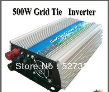 500w New Grid Tie Inverter DC 12/24V to AC 220V/110v+10% For Solar panel MPPT Function Pure Sine Wave Converter