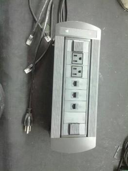 Tabletop socket USA power*2+RJ45 network *3  furniture outlet