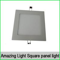 5pcs/lot, square led panel light L170*170*15(H)mm 12W 975lm downlight Ceiling Light Kitchen Light AC85V ~ 265V