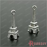 Wholesale 23*8mm Antique Silver 3D Eiffel Tower Alloy Charms Pendants Diy Jewelry Findings Accessories 20 pieces(JM140)