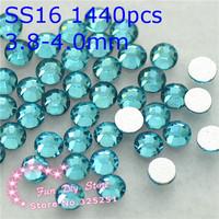 A++ light blue non hotfix rhinestones SS16(3.8--4.0mm) 1440pcs/lot