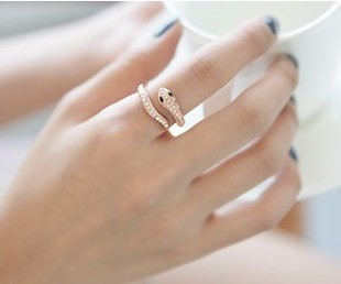 New Arrival Punk Gold Plated Small Snake Rings For Womens Fashion Statement Jewelry Cute Good Quality MS(China (Mainland))