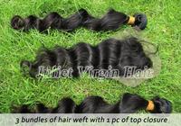 Free Shipping 1pc Top Closure With 3pcs Hair Bundles,Cheap Brazilian Hair Loose wave,Juliet Virgin Hair No.BA80-03