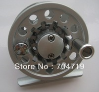 Free shipping new Aluminum Die Casting Fly Fishing Reels # 2/3 60mm