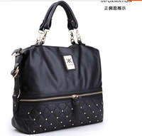 Europe and the United States of big shop sign fashion handbag rivet Boston bags hand-held bucket bag