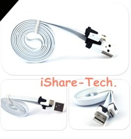 Wholesale 100pcs Noodle Flat Micro USB Sync Data & Charger Cable Colorful Noodles Cable 1M For Samsung Galaxy S4 i9500 S3 i9300