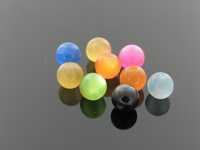 Free shipping fashion Diy accessories leuconostoc 10mm 50pcs/bag blended-color resin cat-eye beads