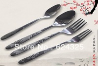 Creative new strange business Cutlery Set Portable coffee spoon small gifts wholesale special utility knife and fork