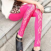 Free shipping 2015 new Women's Fashion lace Leggings Stretch Skinny Leg Pants Jeggings Cheap price