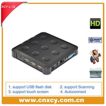 High performance desktop computer without cpu net computer thin client 24 bit support 3 usb port