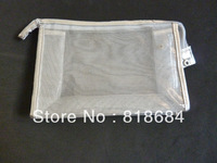 New fashion beautiful transparent charming white cosmetic bag   1pc/lot