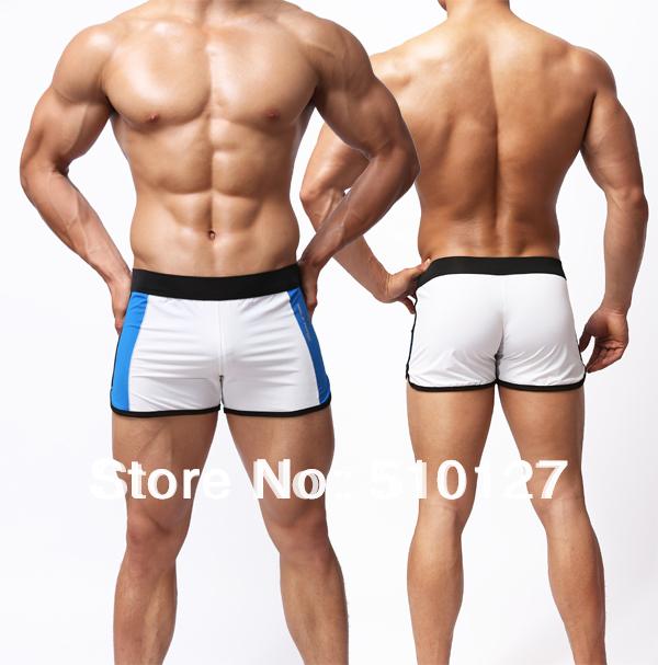 Hot White Wrestling Trunk Sports Underwear Mens Swimwear Summer Mens Swim Trunk men(China (Mainland))