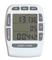 5 PC Digital timer  large LCD 3 channel Multi-function timer,kitchen timer , count down up timer ,