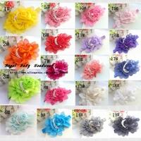 New Style 19colors , beautiful chiffon big flower headband girl baby hair band headwear Angel baby 30ps/lot