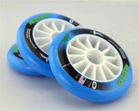 Bined 110mm wheels wear-resistant speed skating wheel blue 110mm pulley wheel   4PCS