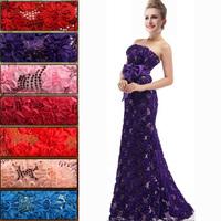 Plus size long champagne Formal dresses XXXXL Evening dress 2014 new arrival lace flower long design fish tail Party dresses