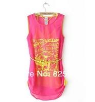 2014 Summer  Chiffon Summer Sexy Two set Dress for women causal party short dresses