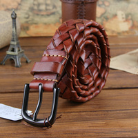 Handmade Braided First Layer Cowhide TOP Quality Vintage Men Belt Wide Waist Belts For Man Strap 120CM Cinto Ceinture MBT0014