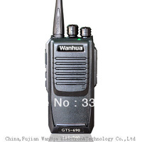 Free Shipping GTS-690 Professional Walkie Talkie Radios With Emergency Alarm, Squelch Level Programmable, Tail Tone Elimination