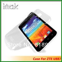 Genuine Brand IMAK Crystal series PC Ultra-thin Hard Skin Case Cover Back For ZTE U887,10pcs/lot
