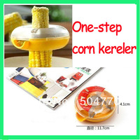 Color box packing One-step corn kerneler/ Kitchen Tool Detachable Peeler zester corn cutter
