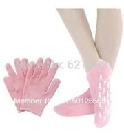 Hot- 2pairs/LOT( (1pair glove+1pair socks) Whiten Skin Moisturizing Treatment Gel SPA gloves and socks)Free Shipping