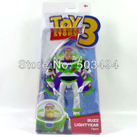 free shipping 6pcs/lot 7 inch Toy Story 3 Buzz Lightyear pvc figure POSABLE FIGURE can choose Box package