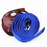 Auto supplies 5 ton 5m double layer thickening trailer rope traction rope 4wd trailer rope Free Shipping