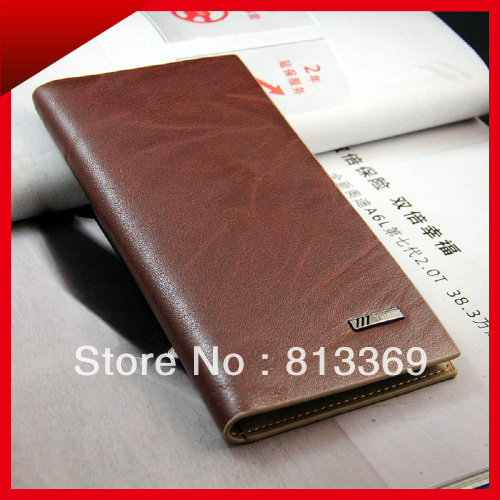 High Quality Men's Long Design Bifold Pu Leather Credit Cards Holder Wallet Casual Bag Purse Notecase Gift Idea Free Ship BB452(China (Mainland))