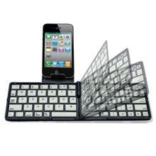 Black Free shipping Bluetooth Folding wireless keyboard for iPad iPhone Android Smartphones PC