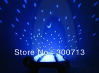 Free Shipping New Edition Tortoise Nightlight Star Projector Lamp 4 Colors 25 piece/lot
