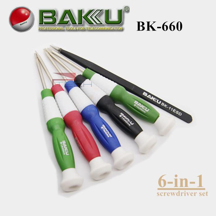 buy baku professional precision screwdriver set 6 screwdrivers in 1 box bk 660. Black Bedroom Furniture Sets. Home Design Ideas